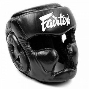 Боксерский шлем Fairtex HG13 верх на шнуровке, XL Fairtex