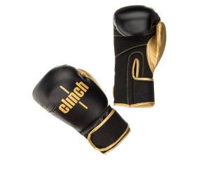 Перчатки боксерские Clinch Aero черно-золотые, 14 унций Clinch Gear