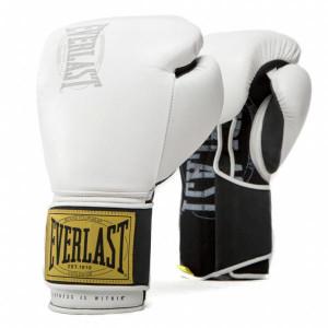 Боксерские перчатки Everlast 1910 Classic White, 12 oz Everlast