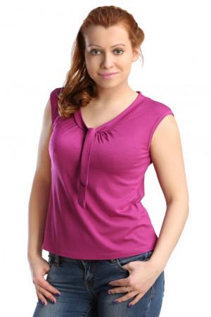 Жен. блуза арт. 16-0123 Темно-лиловый р. 44 ЕленаТекс