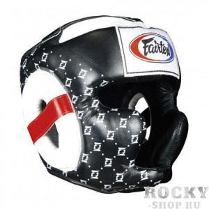 Шлем тренировочный с закрытыми скулами Fairtex, L Fairtex